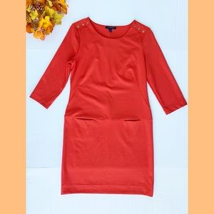 Banana Republic Dress Orange Red Size Small